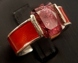 Natural RubiliteTourmaline Ring