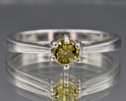 Natural Tourmaline and 925 Silver Ring