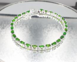 Natural Tourmaline Diopside 925 Silver Bracelet by DANI Jewellery