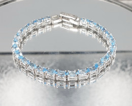 Blue Swiss Topaz  925 Silver Bracelet by DANI Jewellery