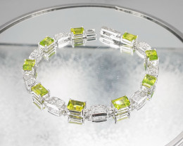 Natural Peridot  925 Silver Bracelet by DANI Jewellery