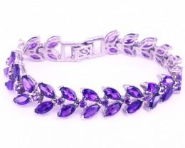Fantastic Design Natural Amethyst Bracelet