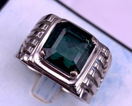 8 carat Natural Indicolite Tourmaline Ring.
