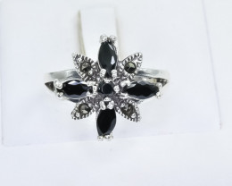26.41 Crt Natural Sapphire 925 Sterling Silver Ring
