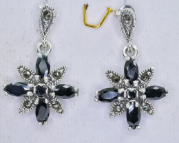 44.83 Crt Natural Sapphire 925 Sterling Silver Earrings
