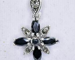 21.79 Crt Natural Sapphire 925 Sterling Silver Pendant