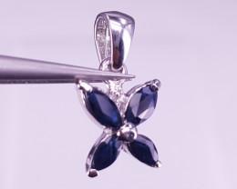 Simple Style Sapphire Pendant