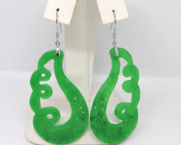 Jade Drop Earrings 49.00 TCW