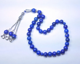 307 Ct Natural Blue Lapis lazuli Beads With Solid Silver TOP Quality Jewelr