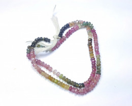 55 Ct Natural Multi Colors Transparent Tourmaline Beads Necklace