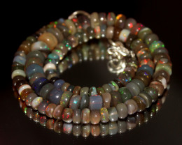 102 Crt Natural Ethiopian Welo Opal Necklace 3045