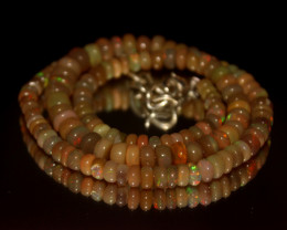 74 Crt Natural Ethiopian Welo Opal Necklace 3043