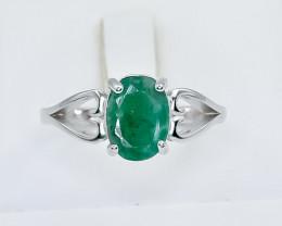 13.80 Crt Natural Emerald  925 Silver Ring