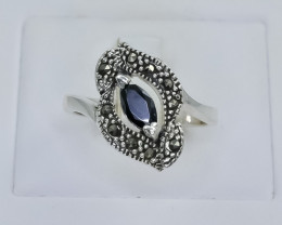 23.75 Crt Natural Sapphire 925 Silver Ring