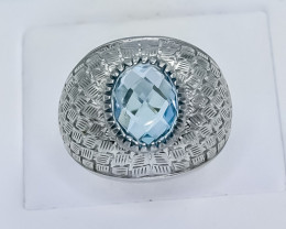 44.20 Crt Natural Topaz 925 Silver Ring