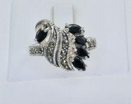 29.77 Crt Natural Sapphire 925 Silver Ring