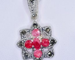 23.10 Crt Natural Ruby 925 Silver Pendant