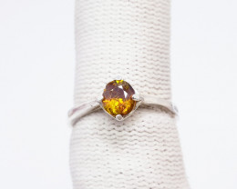 Natural Yellow Fire Sphen (Titanite) 925 Sterling Silver Ring