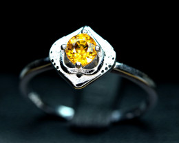 Natural top color lustrous full Clean Mali Garnet ,CZ 925 Silver Ring