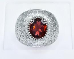 44.77 Crt Natural Garnet 925 Silver Ring