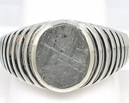 Gents Meteorite Ring 9.17cts.