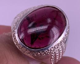 Natural Garnet Gents Ring