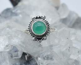 GREEN ONYX RING 925 STERLING SILVER NATURAL GEMSTONE JR972