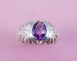 Natural Amethyst Ring