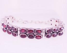 Natural Rhodolite Bracelet