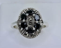 25.29 Crt Natural Sapphire 925 Sterling Silver Ring