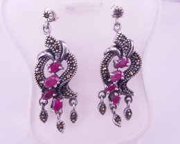 Natural Ruby Earrings