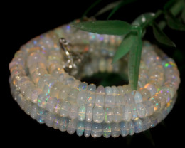 84 Crt Natural Ethiopian Welo Opal Necklace 3189