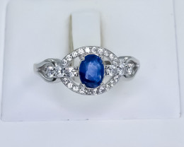 16.01 Crt Natural Sapphire 925 Silver Ring