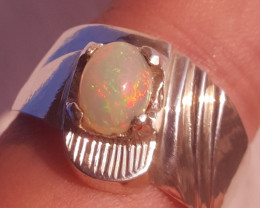 Natural Fire Opal Ring.