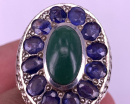 Natural Sapphire and Tourqousie Ring.