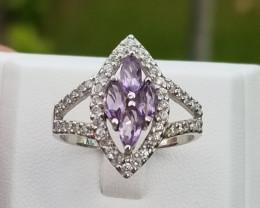 Stunning Amethyst Ring In Silver 925