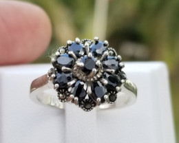 A Beautiful Sapphire Ring In Silver 925