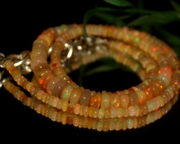 57 Crt Natural Ethiopian Welo Opal Necklace 3135