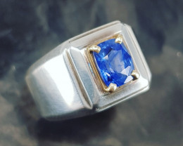 2.42 Carat Certified Natural Sapphire Ring