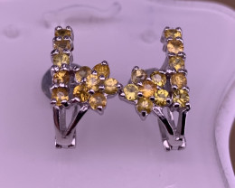 Natural Yellow Sapphire Earrings.