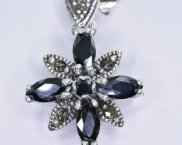 22.49 Crt Natural Sapphire 925 Sterling Silver Pendant