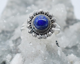 LAPIS RING 925 STERLING SILVER NATURAL GEMSTONE JR984