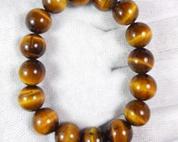 12 mm tiger eye bracelet strand.