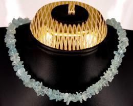 Natural Rough  Aquamarine Necklace