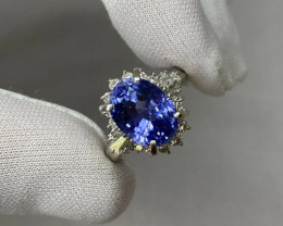GIA Certified 7.08ct Untreated Color Change Sapphire Diamond Platinum Cockt