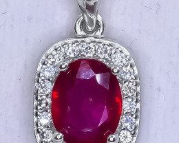 15.81 Crt Natural Composite Ruby 925 Silver Pendant