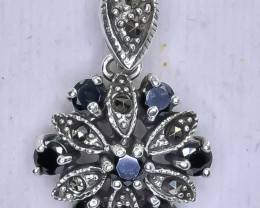 17.74 Crt Natural Sapphire 925 Silver Pendant