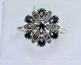 24.33 Crt Natural Sapphire 925 Silver Ring