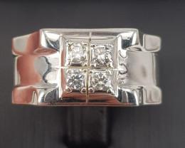Natural Diamonds Men Ring TCW 0.38