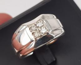 Natural Diamonds Men Ring.